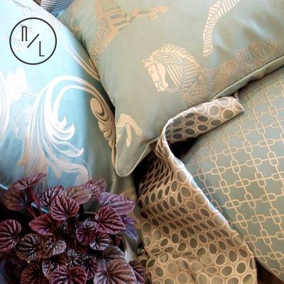 Social media- Blue Cushions